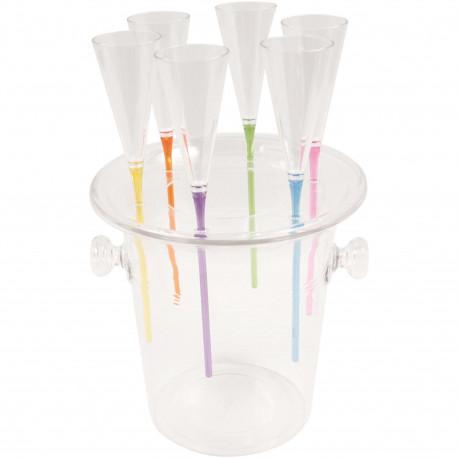 Flûtes à champagne Tour Eiffel Transparentes Set de 2