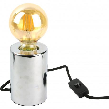 Lampe Cylindre Métal Silver Gris argent