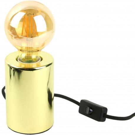 Lampe Cylindre Métal Gold Or doré