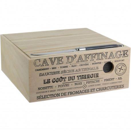Cave à fromage et charcuterie Avec couteau La Sélection Brasserie Bois Beige