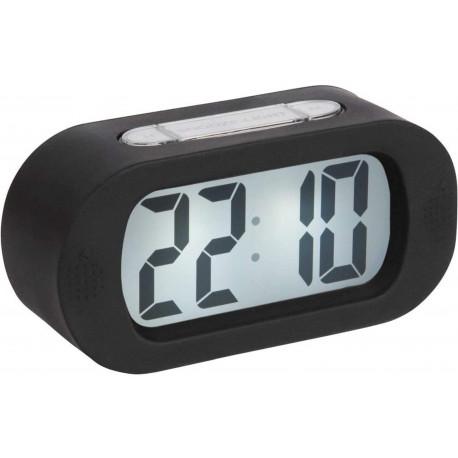 Réveil numérique LCD rétro-éclairé Gummy Noir