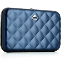 Porte-cartes Quilted Button Noir