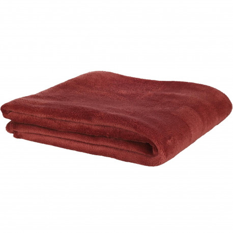 Plaid couverture Microfibre 125x150cm Bordeaux cannelle