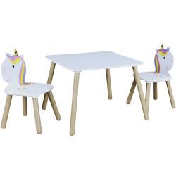 Table Enfant Crayons Multicolore