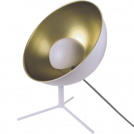 Lampe Cinéma Projecteur trépied Tête rotative Blanc intérieur doré