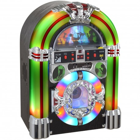 Jukebox lumineux New-York Bluetooth Radio CD mp3 USB SD
