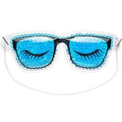 Masque Yeux réutilisable Relaxant et dynamisant Lunettes Bleu et noir