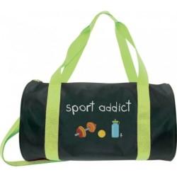 Sac tube et Pochette Sport addict Noir et vert