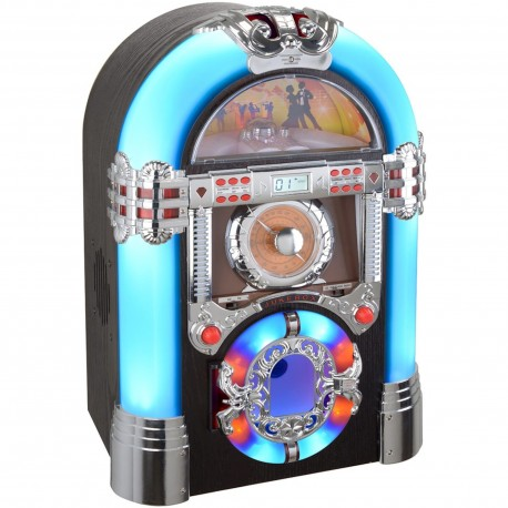 Jukebox lumineux Memphis Bluetooth Radio CD mp3 USB SD